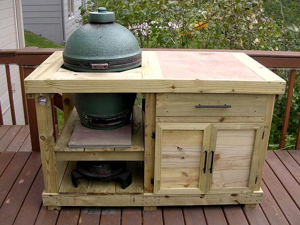 Custom Made Big Green Egg Table. Note The Plumbing Fixture Handles. Love! |  Home Slices | Pinterest | Big Green Egg Tau2026