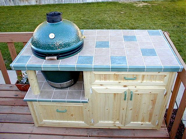 big green egg table ideas