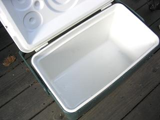 Holding Barbecue Meat In A Cooler -- Naked Whiz Ceramic Charcoal Cooking