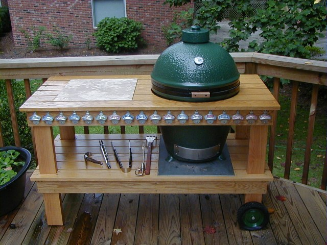 Xl Green Egg Table Plans ... table plans from below big green egg corner table plans here plans